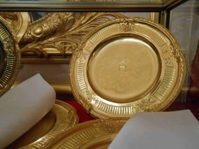 asiette en vermail service Nicolas II