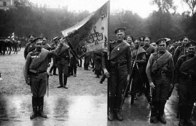Drapeau du 2e régiment de la 1ere brigad russe col A. Korliakov